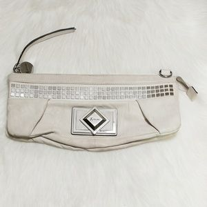 Guess Marciano Ivory Leather Clutch